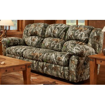Cambridge camo double reclining sofa wayfair for Camo chaise lounge