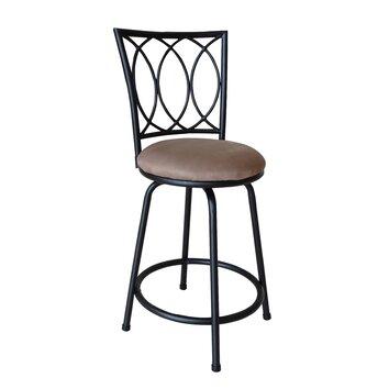 Roundhill Furniture Adjustable Height Swivel Bar Stool