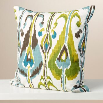 Bungalow Rose Myra Ikat Cotton Throw Pillow Amp Reviews