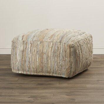 bungalow rose gennep leather ottoman reviews wayfair. Black Bedroom Furniture Sets. Home Design Ideas
