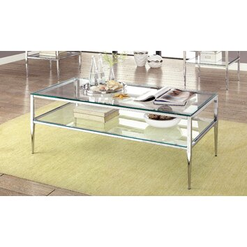 Mercer41 Travolta Open Shelf Coffee Table Amp Reviews Wayfair
