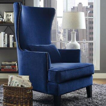 Mercer41 Bernadine Velvet Tall Arm Chair Amp Reviews Wayfair