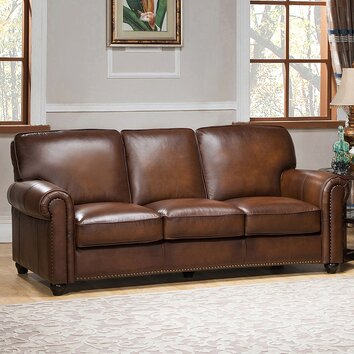 Amax aspen leather sofa reviews wayfair for Aspen sectional leather sofa with ottoman reviews