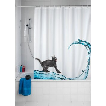 Wenko Inc Cat Anti Mold Shower Curtain Wayfair