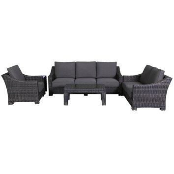 Teva Furniture Bora Bora Outdoor Wicker 4 Piece Deep