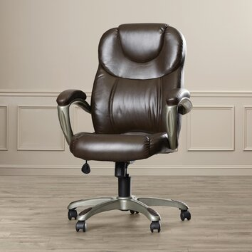Latitude run annabelle leather executive chair with for Annabelle chaise