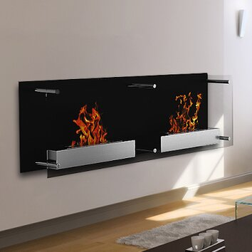 elite flame mora ventless wall mount bio ethanol fireplace