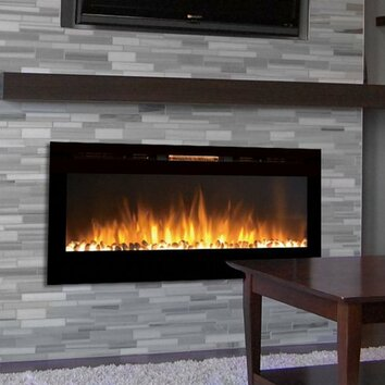 Gibson Living Sydney Pebble Wall Mount Electric Fireplace