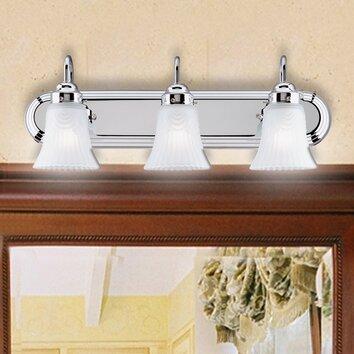 Bathroom Vanity Lights Reviews : Westinghouse Lighting 3 Light Vanity Light & Reviews Wayfair