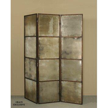 Uttermost 80 Quot X 63 Quot Avidan Mirrored 3 Panel Room Divider