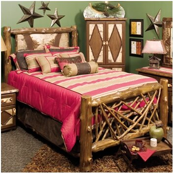 Fireside lodge adirondack panel bed wayfair Adirondack bed frame