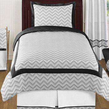Sweet jojo designs zig zag 4 piece twin comforter set for Zig zag bedroom ideas