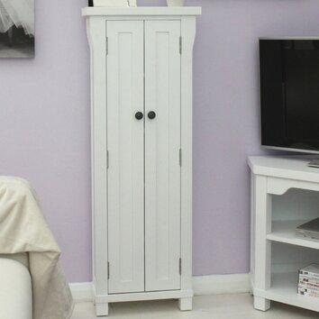 Baumhaus Hampton White Painted Multimedia Cabinet