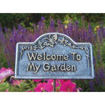 Oakland Living Welcome To My Garden Sign Amp Reviews Wayfair