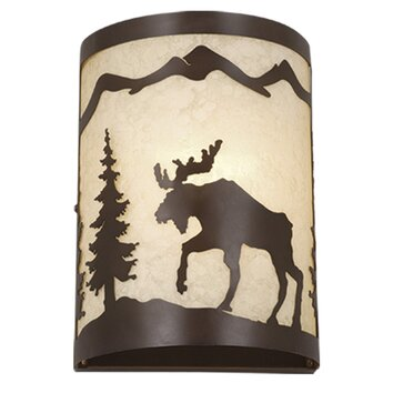 Wayfair Indoor Wall Sconces : Vaxcel Yellowstone Indoor 1 Light Wall Sconce & Reviews Wayfair