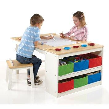 guidecraft art kids arts and crafts center table reviews. Black Bedroom Furniture Sets. Home Design Ideas