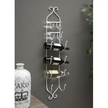 Imax 6 Bottle Wall Mounted Wine Rack Amp Reviews Wayfair