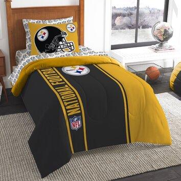 northwest co nfl steelers comforter set reviews wayfair