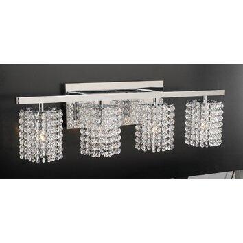 PLC Lighting Rigga 4 Light Vanity Light & Reviews Wayfair