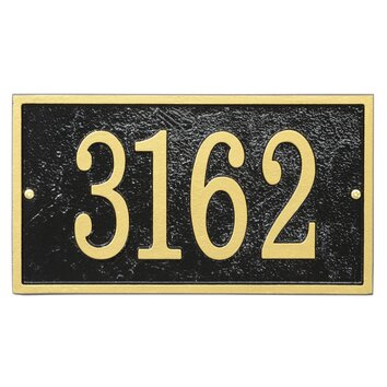 Whitehall Products Fast And Easy Rectangle Address Plaque