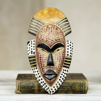 novica west african hand carved wood mask wall d233cor