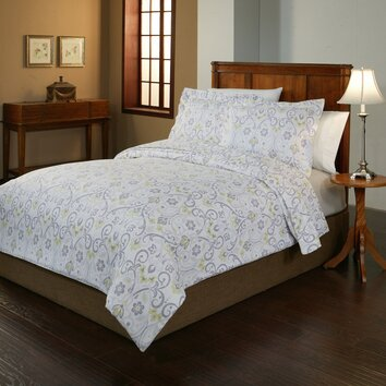 Pointehaven Meadow Flannel Duvet Cover Collection