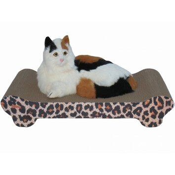 Go pet club lounge recycled paper scratching board for Chaise lounge cat scratcher