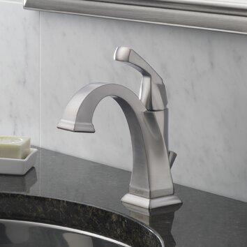 Delta Dryden Single Hole Bathroom Faucet With Diamond Seal