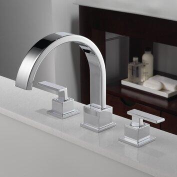 Delta Vero Double Handle Deck Mount Roman Tub Faucet Trim