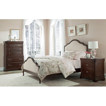 Cresent Furniture Provence Upholstered Panel Bed & Reviews ...
