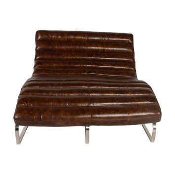 Lazzaro leather perici leather double chaise lounge wayfair for Black friday chaise lounge