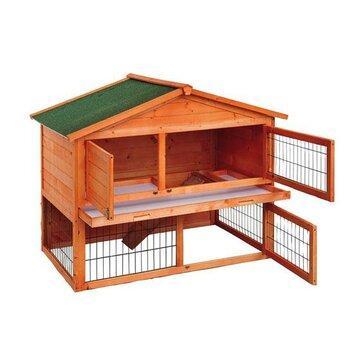 Aosom pawhut 48 deluxe 2 level backyard bunny rabbit for Aosom llc outsunny chaise lounge