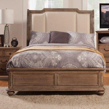 Alpine Furniture Melbourne Upholstered Panel Bed Amp Reviews