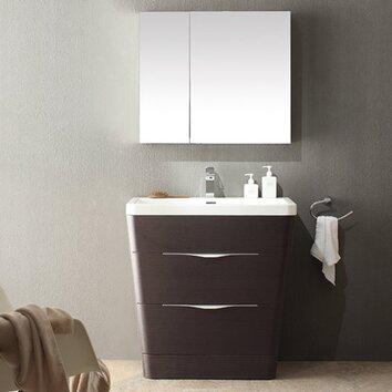 Fresca Milano 31 5 Quot Single Sink Modern Bathroom Vanity Set