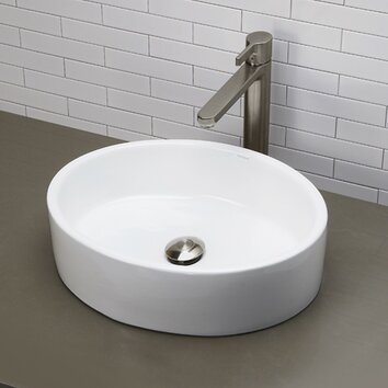 DECOLAV Classically Redefined Oval Vessel Bathroom Sink