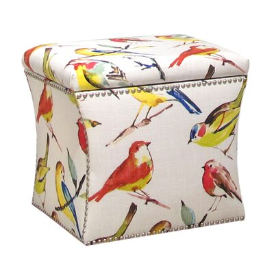 Skyline Furniture Nail Button Birdwatcher Storage Ottoman