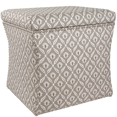 Skyline Furniture Clover Nail Button Storage Ottoman