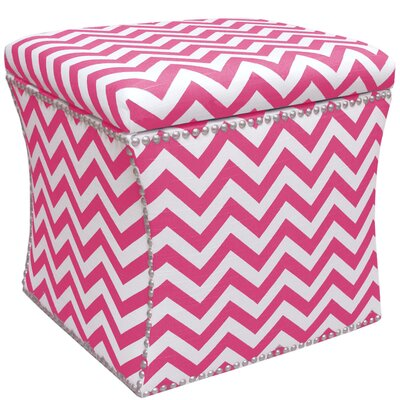 Latitude Run Agnes Nail Button Storage Ottoman in Candy Pink