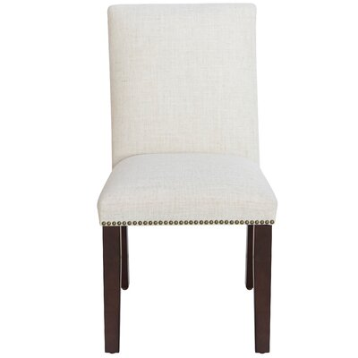 House of Hampton Glaucodot Parsons Chair in Linen Talc