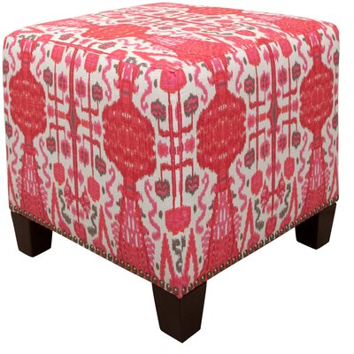 Bungalow Rose Zerbe Square Nail Button Ottoman