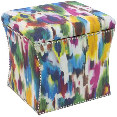 Mercer41 Barresi Nail Button Storage Ottoman in Aurora