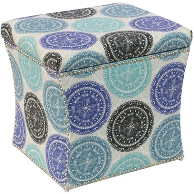 Latitude Run Latoya Pen Medallion Nail Button Storage Ottoman