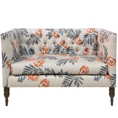 Darby Home Co Bayer Mod Floral Tufted Chaise Lounge