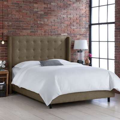 Skyline Furniture Wingback Upholstered Panel Bed