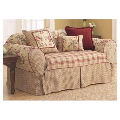 sure fit lexington sofa skirted box cushion slipcover. Black Bedroom Furniture Sets. Home Design Ideas