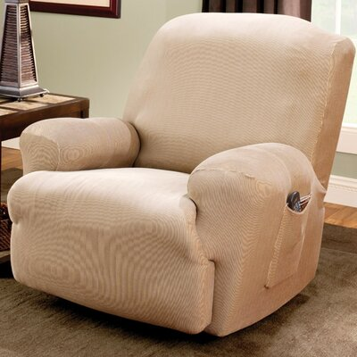 sure fit stretch stripe recliner t cushion slipcover