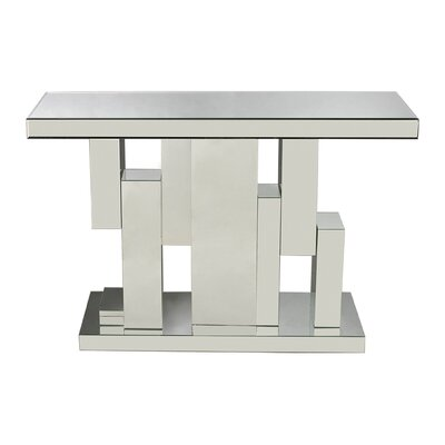 Sterling Industries Tetrominoes Mirrored Console
