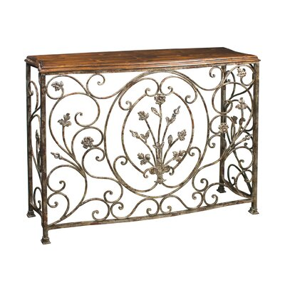 Sterling Industries Floral Scroll Console Table