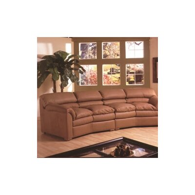 Omnia Leather Canyon Conversation Leather Sofa