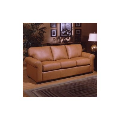 Omnia Leather West Point Leather Sleeper Sofa
